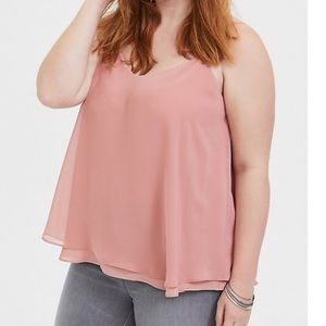 Torrid SOPHIE DUSTY PINK DOUBLE LAYER SWING CAMi 2